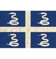 Martinique paper flag vector image