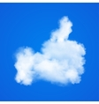 Realistic Clouds in Thumb up icon on blue sky vector image