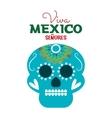 Day of dead skull mexico festive design vector image