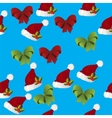 christmas gift bow pattern vector image