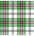 Green white pink tartan plaid seamless pattern vector image