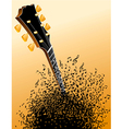 background with Guitar headstock vector image vector image