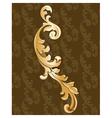 Royal golden ornament vector image