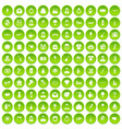 100 website icons set green circle vector image vector image