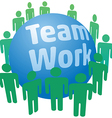 People work in teamwork team vector image vector image