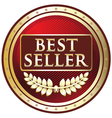 Best Seller Red Label vector image vector image