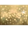 Golden festive lights in star shape background vector image