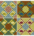 4 seamless patterns in eastern style vector image
