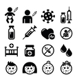 Childhood vaccinations chicken pox icon set vector image