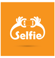 Taking selfie portrait photo on smart phone vector image