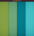 Wallpaper patterns and texture background set vector image