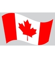 Flag of Canada waving vector image