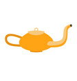 magic lamp of aladdin isolated arabic gold vessel vector image