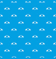 small square banner pattern seamless blue vector image