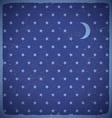 Square card with polka dot stars vector image