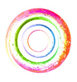 watercolor spiral grunge vector image