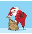 Santa Claus and bag with gifts vector image