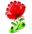 red flower vector image vector image