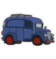 old blue van vector image