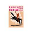 rodeo cowboy riding bucking bronco vector image