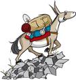 pack mule vector image
