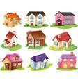 Different houses vector image vector image
