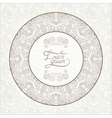 light floral frame on paisley background with vector image