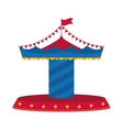 carousel icon Circus and carnival design vector image