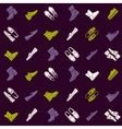 Seamless pattern with flat icons of mens shoes vector image