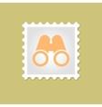 Binocular stamp vector image