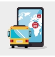 bus travel service public vector image
