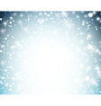 Christmas background with crystallic snowflakes vector image