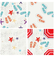 Four beach themed patterns vector image
