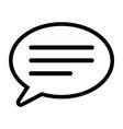 line speech bubble icon vector image