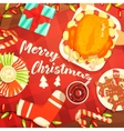 Merry Christmas Colorful With Classic vector image