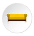 sofa icon circle vector image