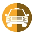 taxi cab car public transport yellow circle vector image