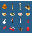 Turkey Touristic Isometric Symbols Icons vector image
