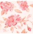 Watercolor seamless wallpaper with Peony flowers vector image