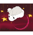 Ram on a cloud vector image vector image