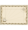 Vintage map background invitation template vector image vector image