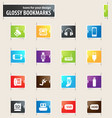 devices bookmark icons vector image