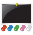 Photo frame with pin set vector image