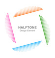 Colorful Abstract Halftone Design Element vector image vector image