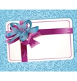 beautiful greeting card with ribbons vector image vector image