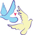 Two Doves vector image