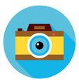 Photo Camera Circle Icon vector image