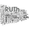 Babe ruth a short bio text word cloud concept vector image