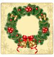 beautiful wreath vector image