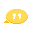 bubble chat dialogue message quote speech icon vector image